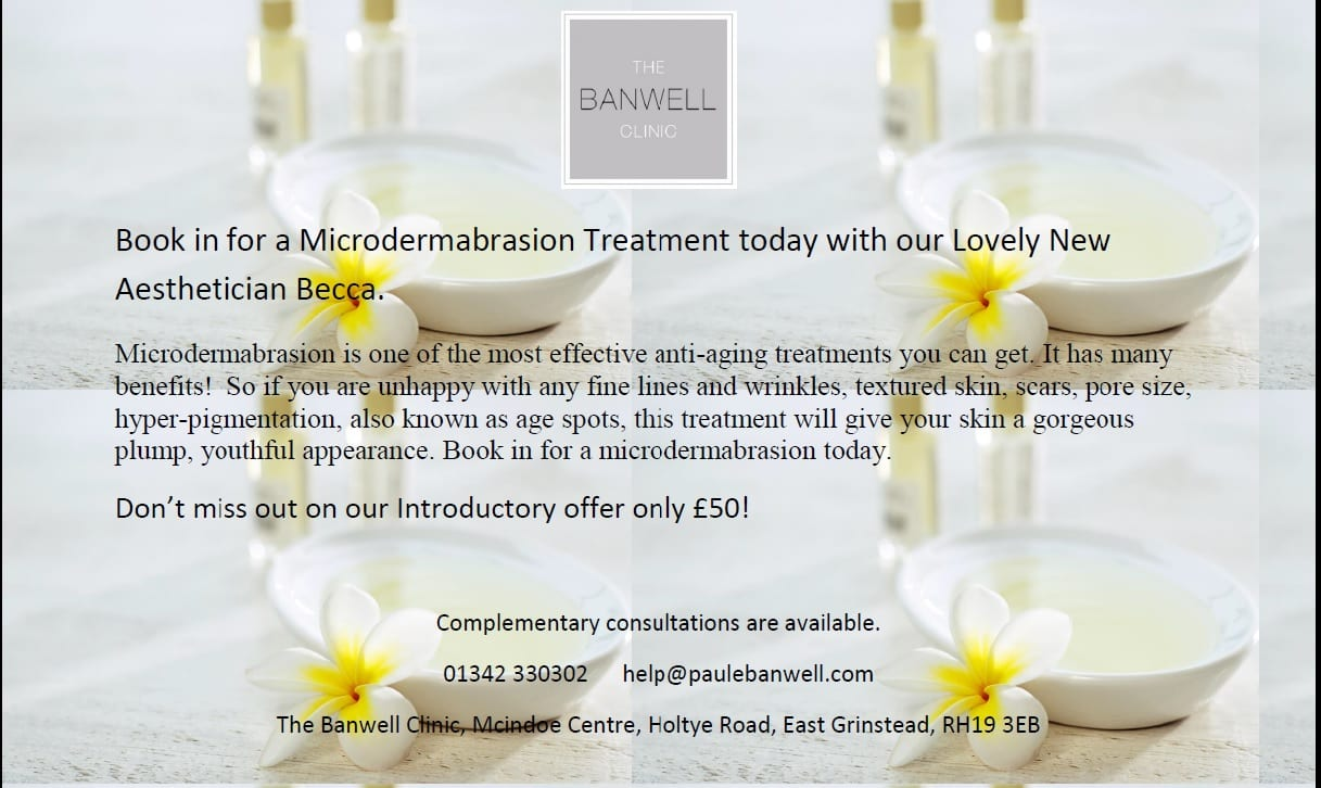 Don't miss out on our Introductory offer for microdermabrasion with our Lovely New Aesthetician Becca!